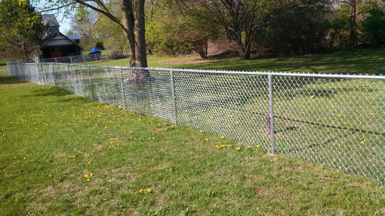 Chain Link Portfolio Straight Line Fence