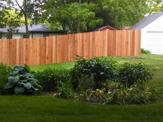 Custom Wood Portfolio Straight Line Fence