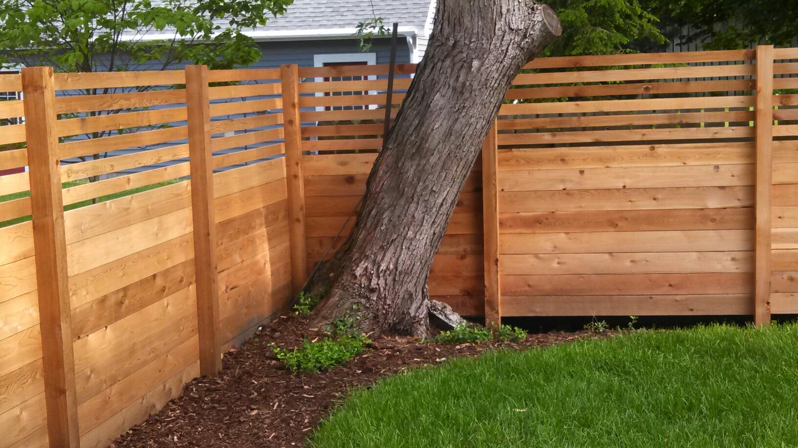 Horizontal Fence For The Home Pinterest