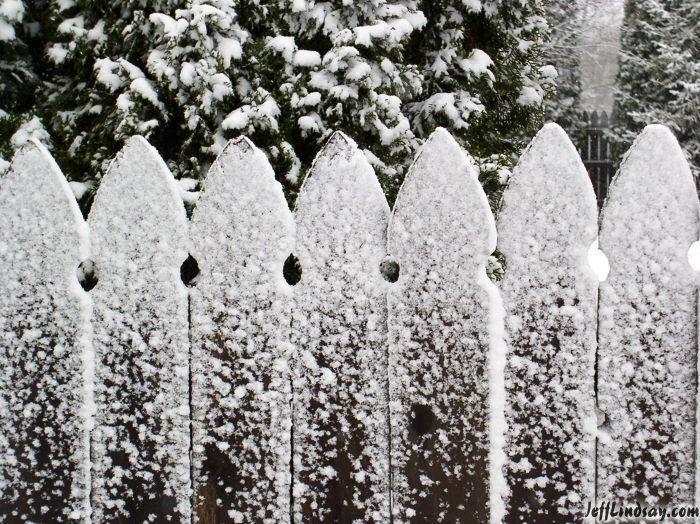 Help your fence survive the winter straight line
