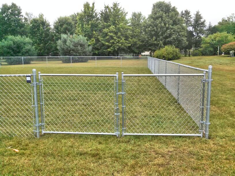 Chain link fence offers an affordable option straight