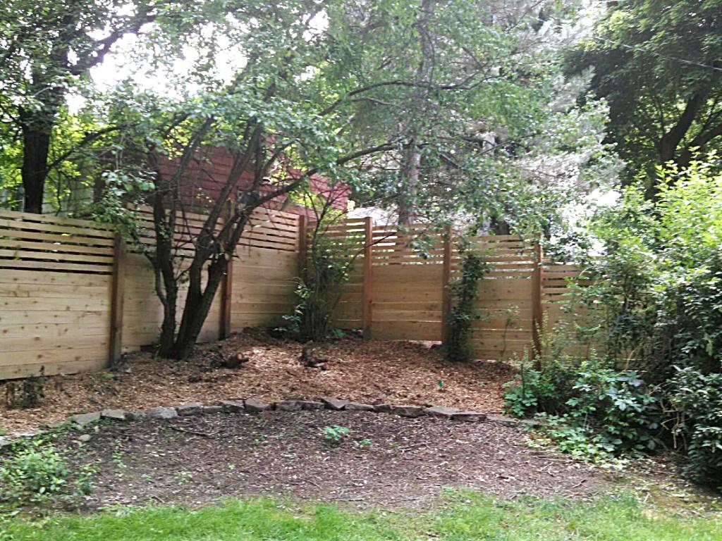 Custom Wood Portfolio Straight Line Fence