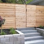 Custom Horizontal Cedar Fence with Gate