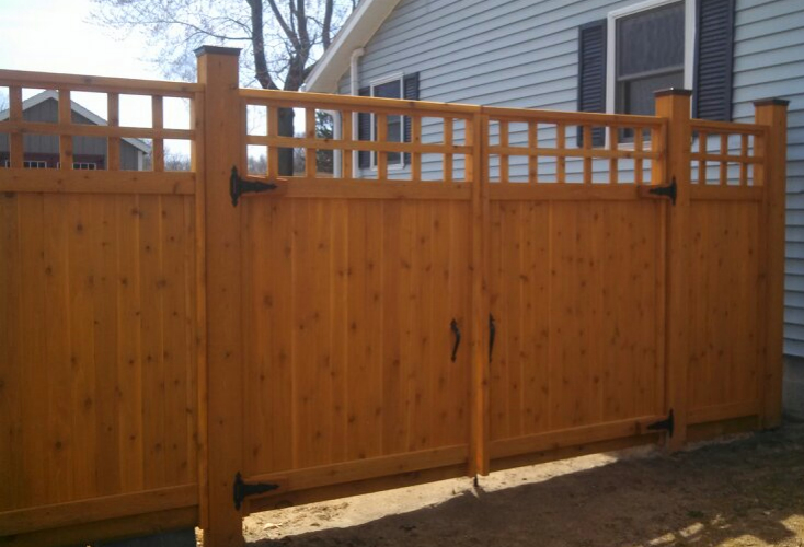 Custom wood fence design guide straight line fence for Unique privacy fence designs