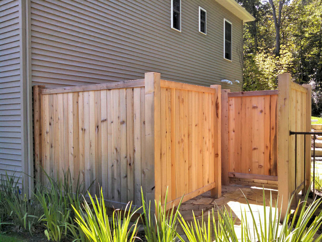 Custom build wood projects by straight line fence