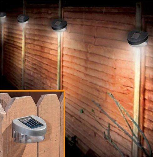 6 X Solar Ed Door Fence Wall Lights